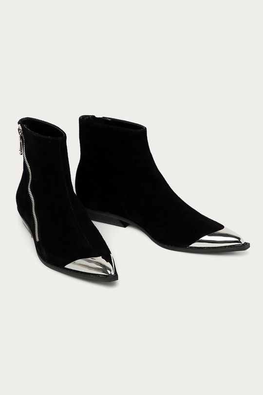 Calvin Klein Jeans - Botki zamszowe czarny