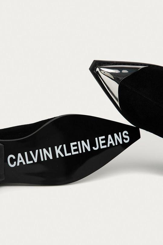 czarny Calvin Klein Jeans - Botki zamszowe