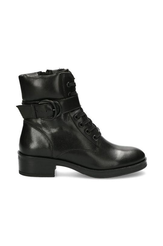 černá Mexx - Kožené kotníkové boty Booties Daley Dámský