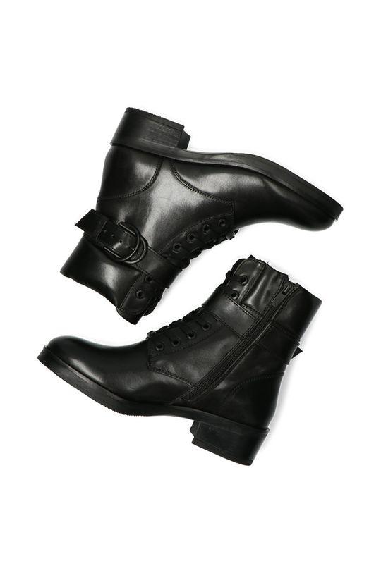 černá Mexx - Kožené kotníkové boty Booties Daley