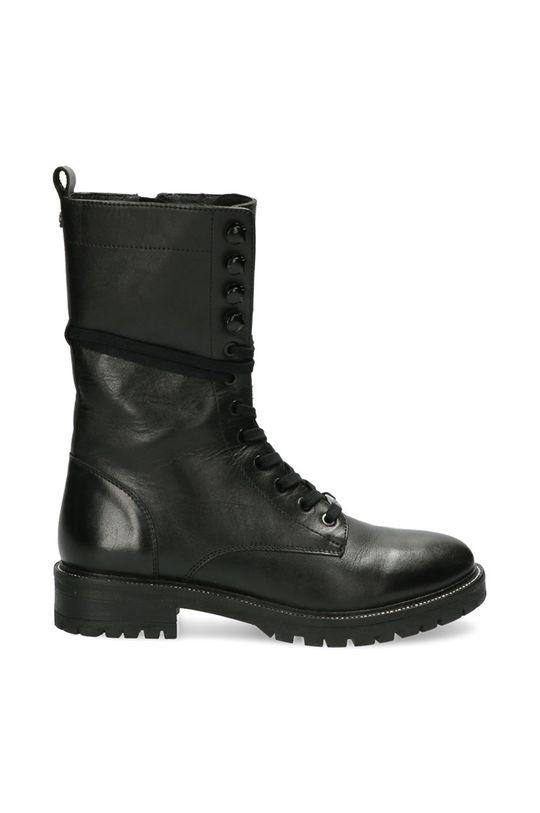 černá Mexx - Kožené kotníkové boty Dena Dámský