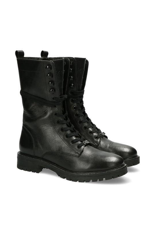Mexx - Kožené kotníkové boty Dena černá