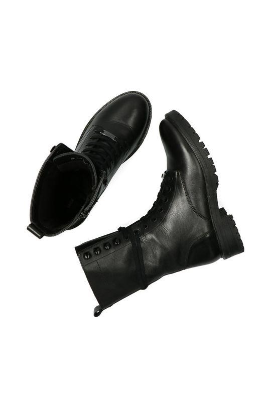černá Mexx - Kožené kotníkové boty Dena