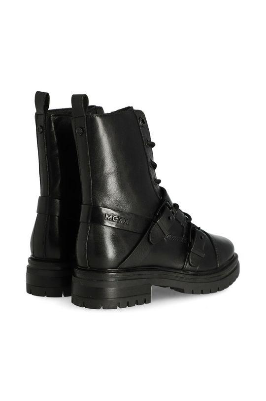 Mexx - Kožené kotníkové boty Booties Fire  Svršek: Hovězí useň Vnitřek: Přírodní kůže, Vlna Podrážka: Umělá hmota