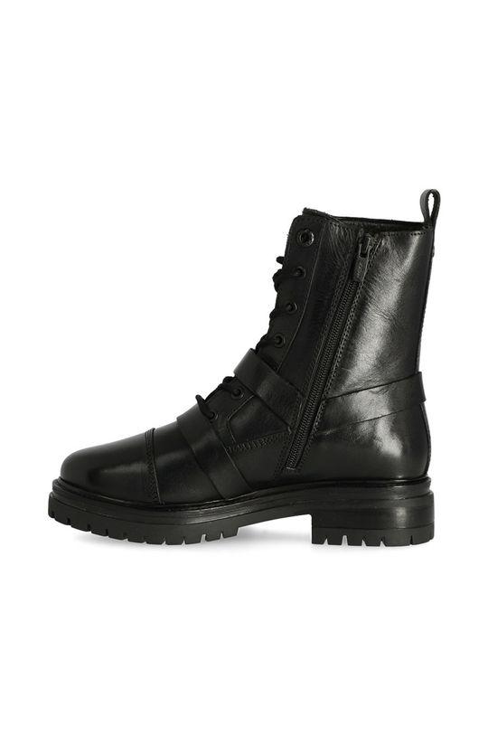 černá Mexx - Kožené kotníkové boty Booties Fire