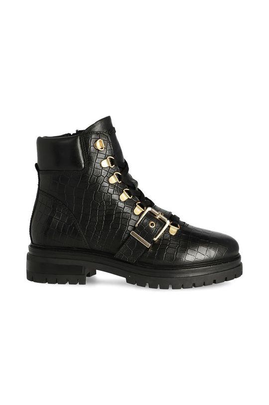 negru Mexx - Cizme de piele Ankle Boots Fall De femei