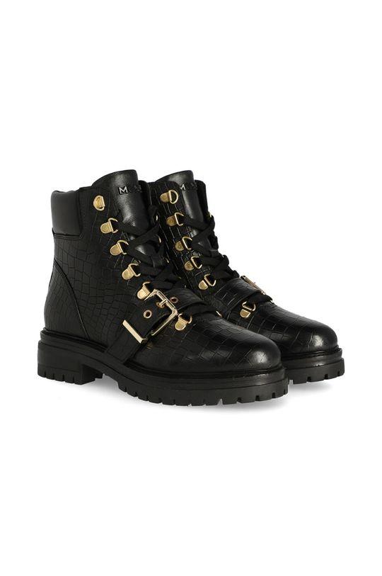 Mexx - Cizme de piele Ankle Boots Fall negru