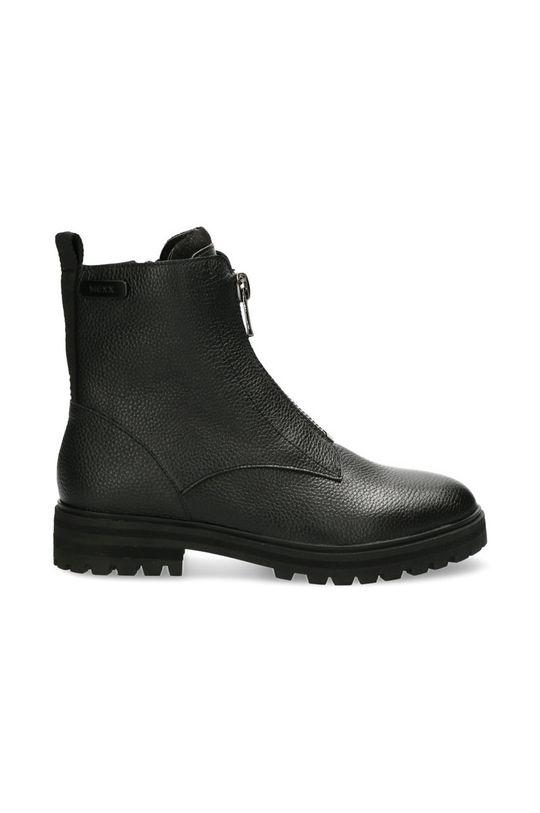 černá Mexx - Kožené kotníkové boty Booties Flame Dámský