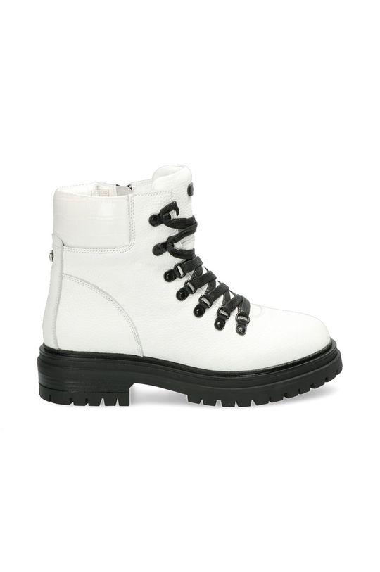 bílá Mexx - Kožené kotníkové boty Ankle Boots Fresh Dámský