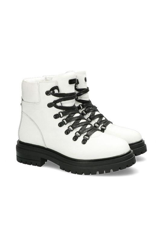 Mexx - Kožené kotníkové boty Ankle Boots Fresh bílá