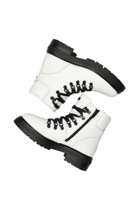 bílá Mexx - Kožené kotníkové boty Ankle Boots Fresh