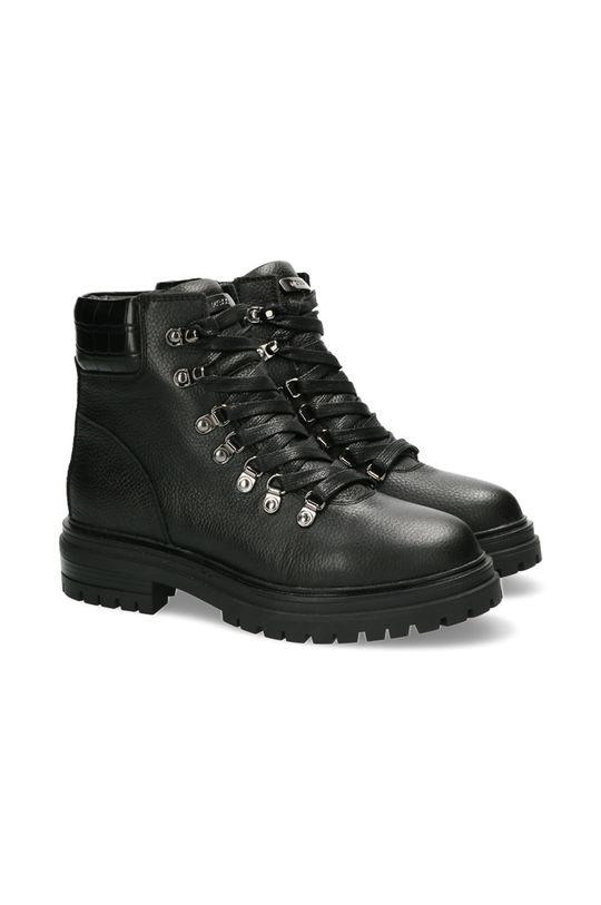 Mexx - Botki skórzane Ankle Boots Fresh czarny