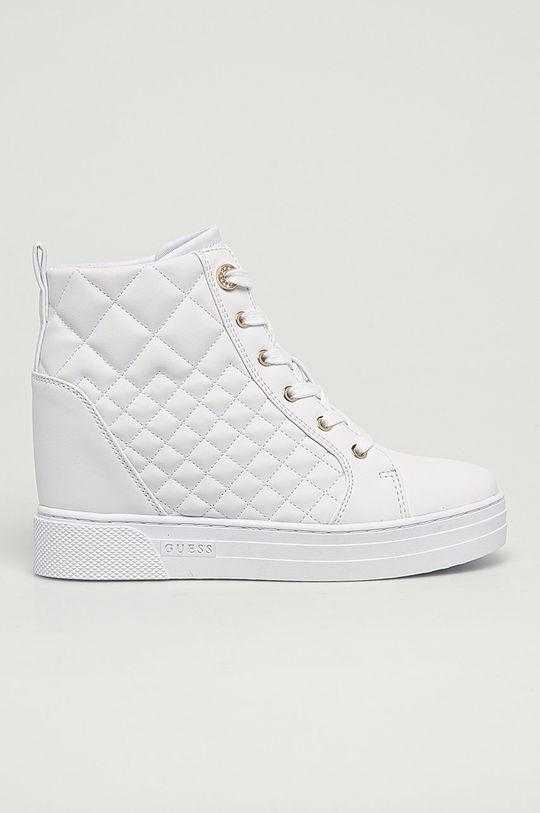 bílá Guess Jeans - Nízké kozačky Dámský