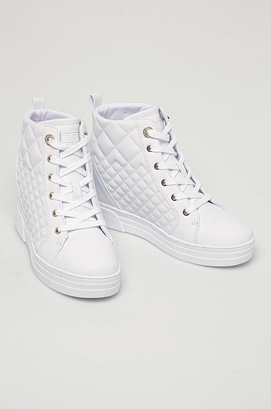 Guess Jeans - Nízké kozačky bílá