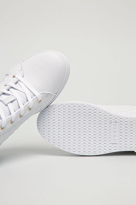 bílá Guess Jeans - Nízké kozačky