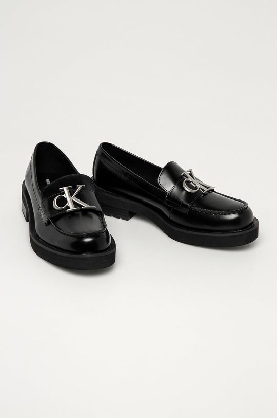Calvin Klein Jeans - Mokasyny skórzane czarny