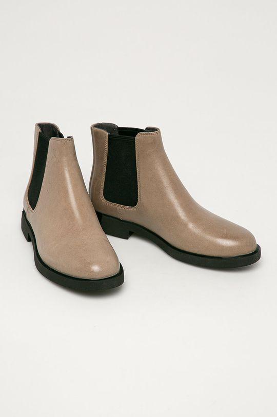 Camper - Kožené topánky Chelsea Iman sivá