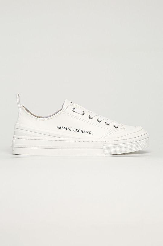 biały Armani Exchange - Tenisówki Damski