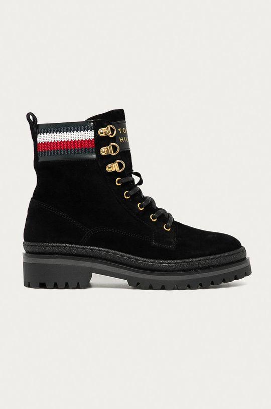 negru Tommy Hilfiger - Pantofi de piele intoarsa De femei