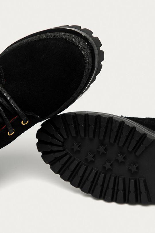negru Tommy Hilfiger - Pantofi de piele intoarsa