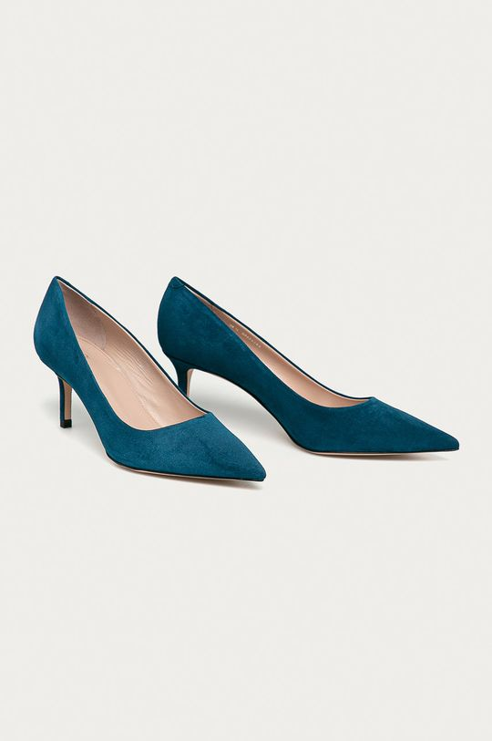 Hugo - Semišové podpatky modrá
