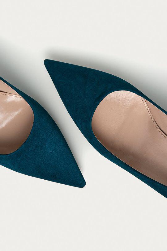 modrá Hugo - Semišové podpatky