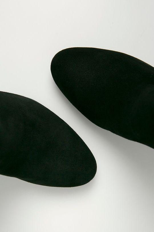 czarny Guess - Botki zamszowe