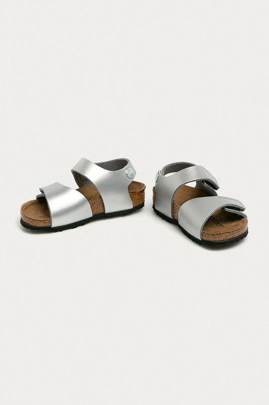 Birkenstock - Sandały dziecięce Palu srebrny