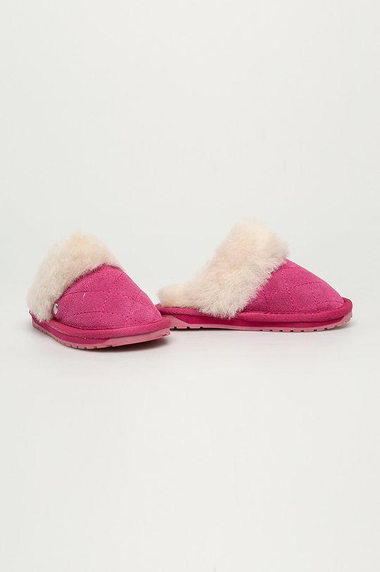 Emu Australia - Dětské papuče Jolie Kids Quilt růžová