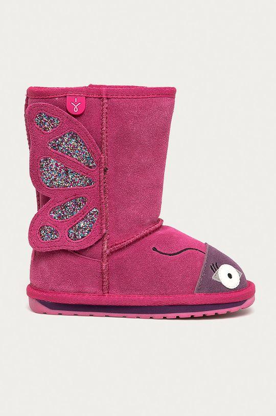roz Emu Australia - Cizme de iarna copii Butterfly De fete