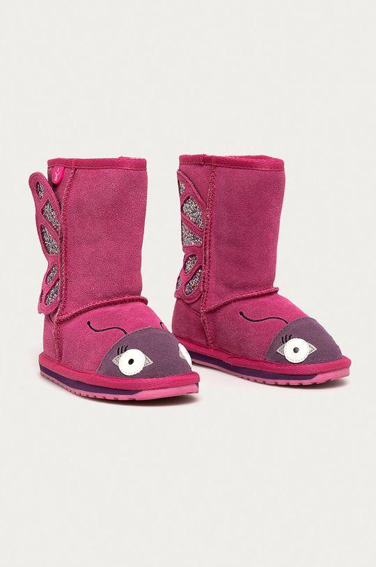 Emu Australia - Cizme de iarna copii Butterfly roz