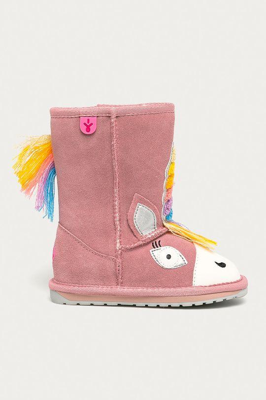 pastelowy różowy Emu Australia - Śniegowce dziecięce Magical Unicorn Dziewczęcy