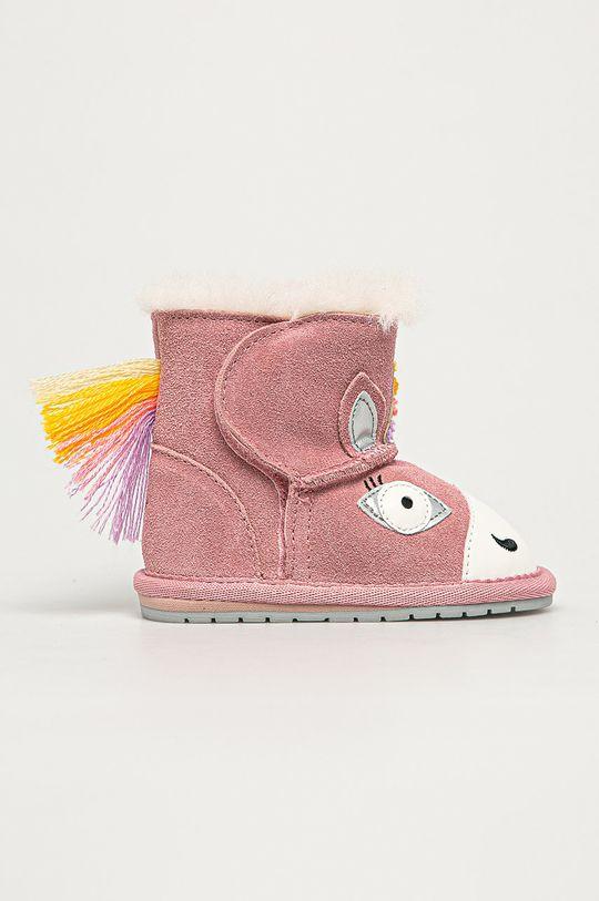 pastelowy różowy Emu Australia - Śniegowce dziecięce Magical Unicorn Walker Dziewczęcy