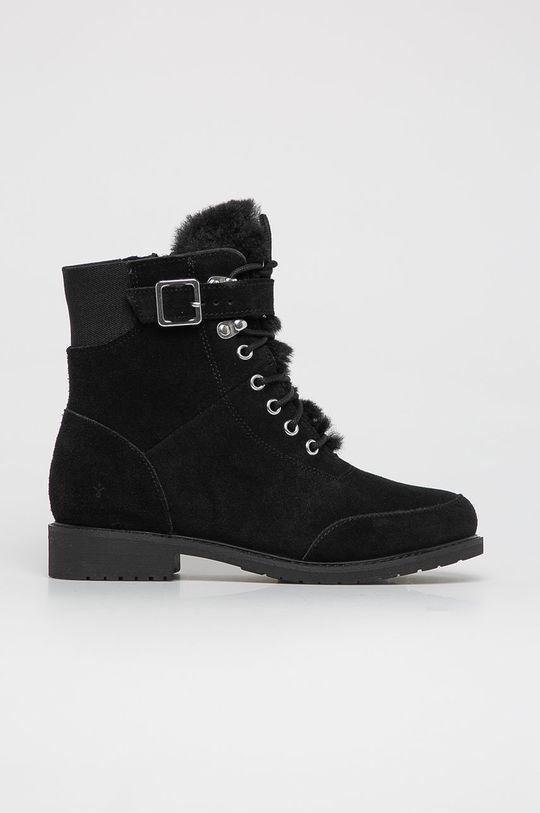 černá Emu Australia - Dětské semišové boty Waldron Teens Dívčí