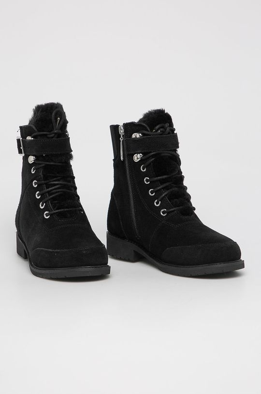 Emu Australia - Dětské semišové boty Waldron Teens černá