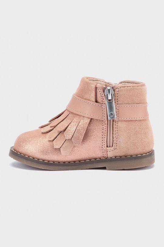 Mayoral - Detské semišové topánky ružová