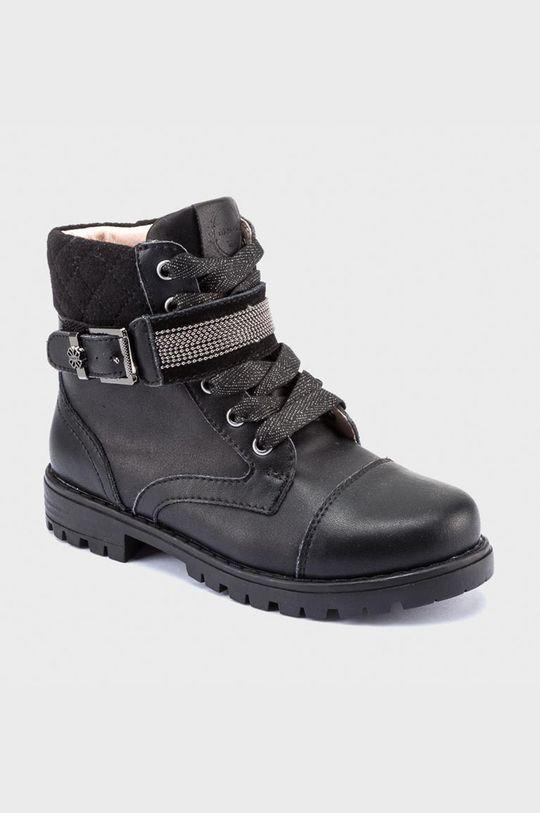 čierna Mayoral - Detské topánky Dievčenský