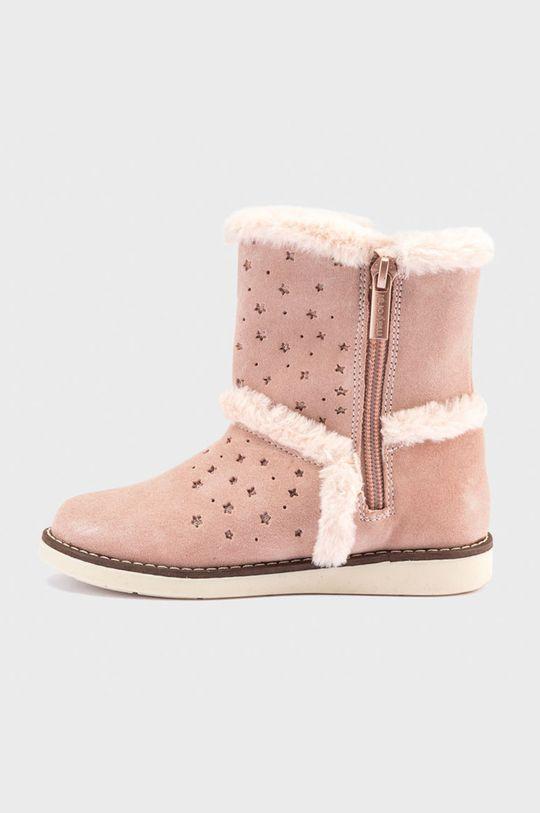 Mayoral - Śniegowce zamszowe dziecięce różowy
