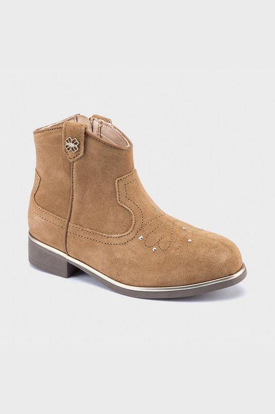 zlatohnědá Mayoral - Dětské boty Dívčí