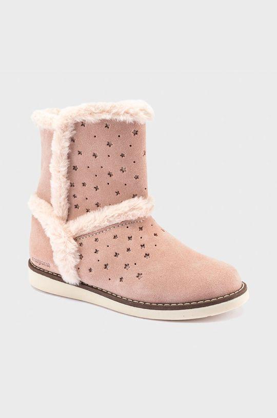 růžová Mayoral - Dětské semišové sněhule Dívčí