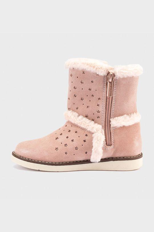 Mayoral - Dětské semišové sněhule růžová