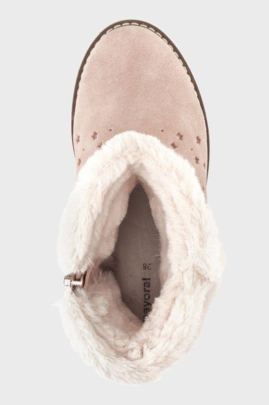 Mayoral - Dětské semišové sněhule  Svršek: Textilní materiál, Semišová kůže Vnitřek: Textilní materiál, Přírodní kůže Podrážka: Umělá hmota