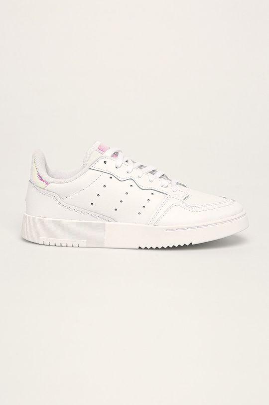 alb adidas Originals - Pantofi copii Supercourt De fete