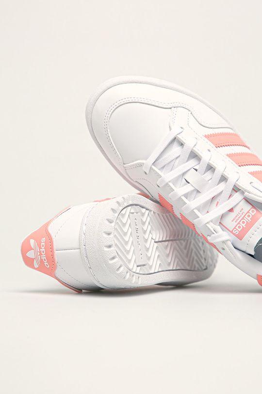 bílá adidas Originals - Dětské boty Team Court J