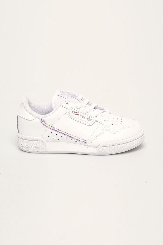 bílá adidas Originals - Dětské boty Continental 80 C Dívčí