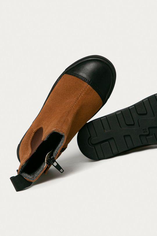 zlatohnědá Mrugała - Dětské kožené boty