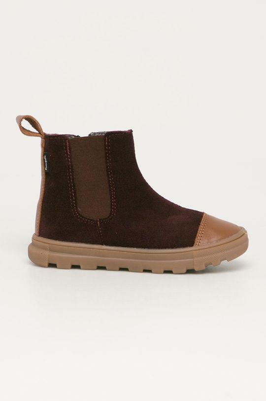 каштан Mrugała - Детские кожаные ботинки Для девочек