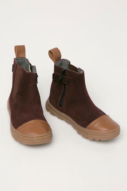 Mrugała - Детские кожаные ботинки каштан