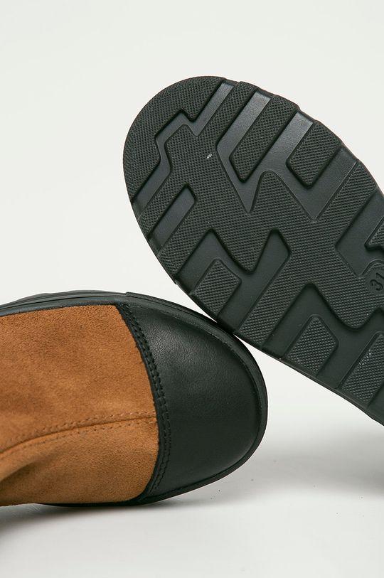 zlatohnědá Mrugała - Dětské kožené kotníkové boty