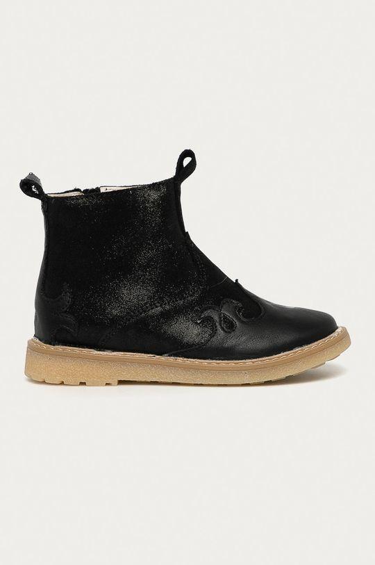 чёрный Mrugała - Детские кожаные кроссовки Для девочек